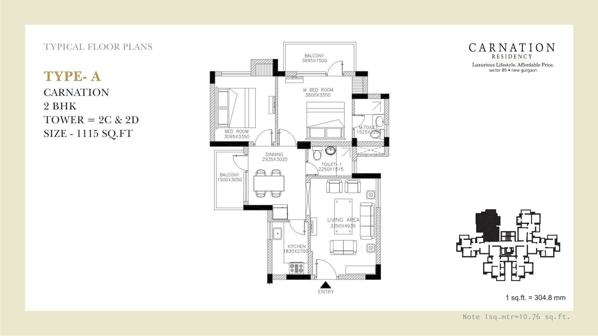 Carnation Floor Plan