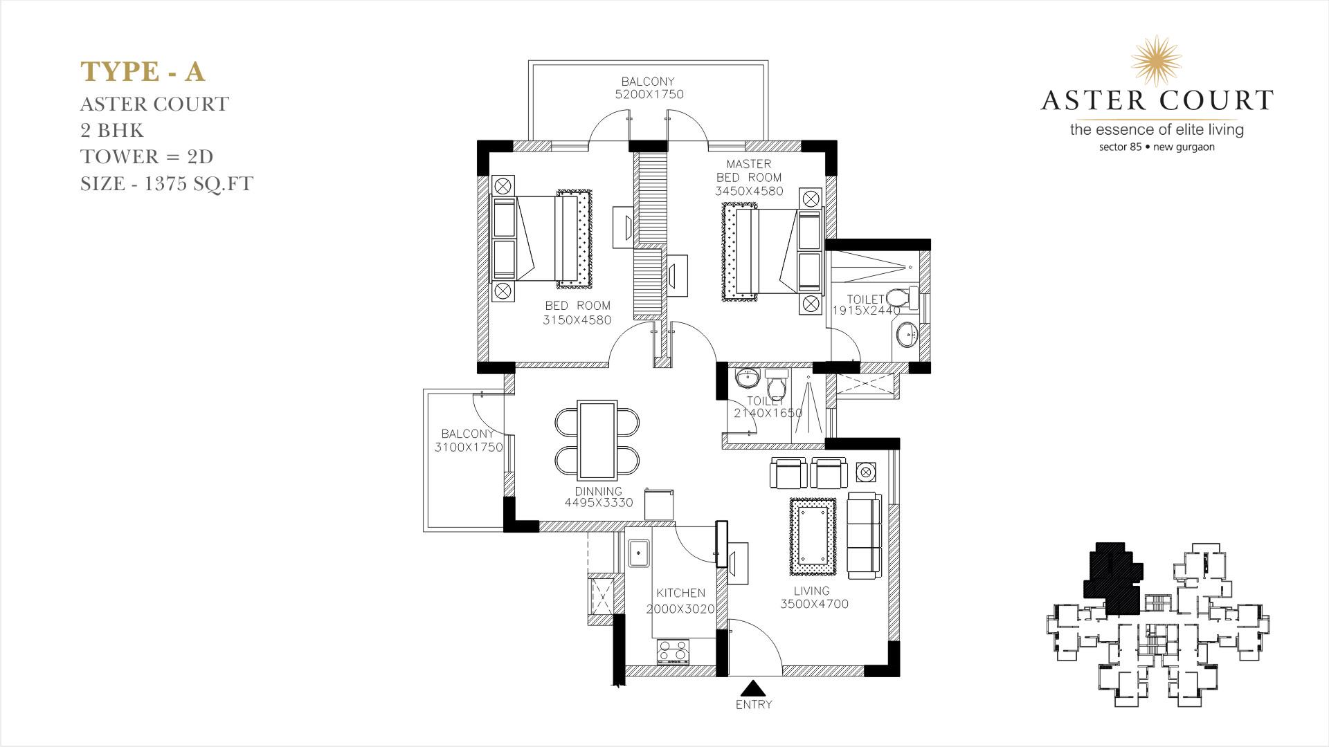 Aster Court Floor Plan 1